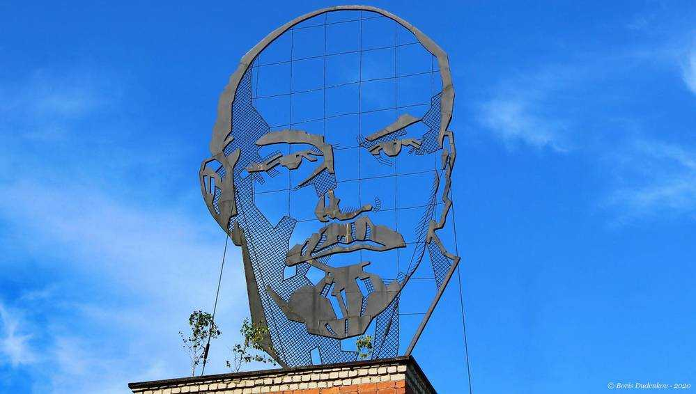 В Брянске Ленина на крыше цеха настигли березки