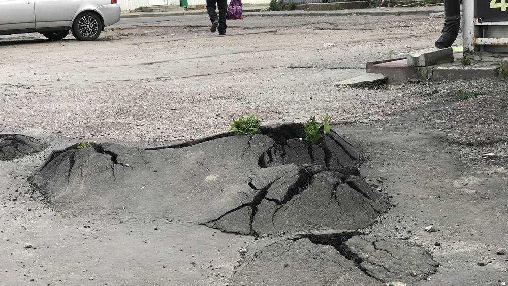 В Брянске на Авиационной улице асфальт пошел в рост