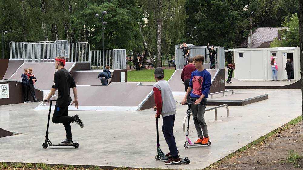 В Майском парке Брянска дети стали показывать цирковые номера