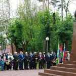В Брянске провели митинг у памятника герою-летчику Павлу Камозину