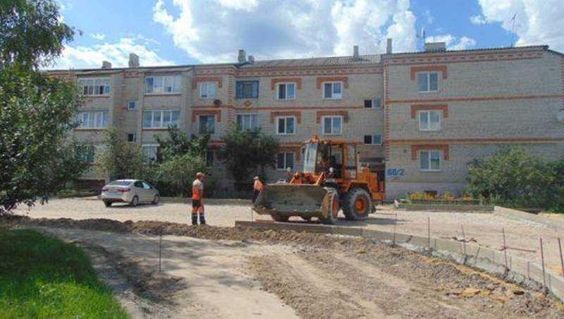 «Городская среда»: В районных центрах Брянщины активно благоустраиваются общественные и дворовые территории