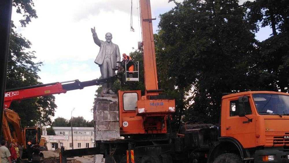 С площади вокзала Брянск-I убрали памятник Ленину