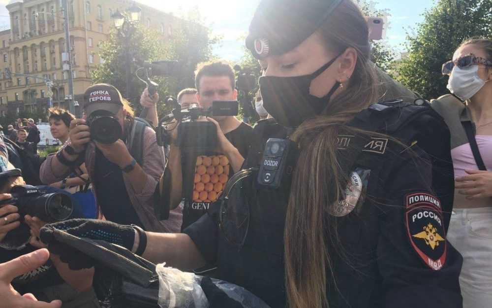 В Москве протестующие удивились действиям полиции