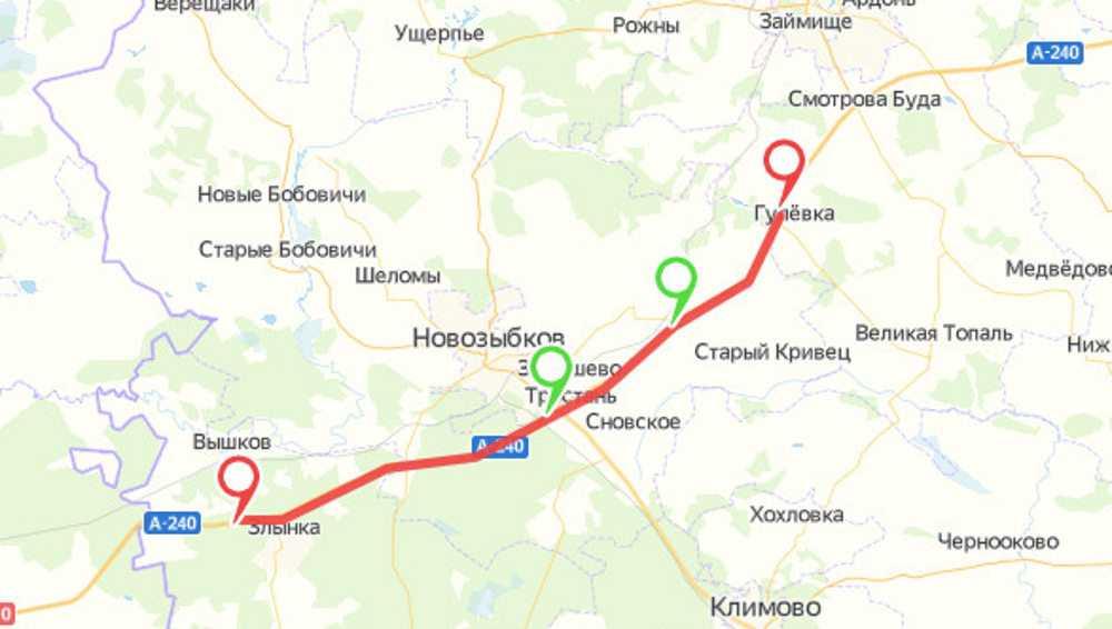 На трассе Брянск — Гомель ввели ограничения по ширине автомобилей