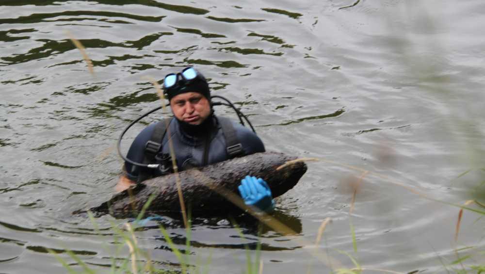 Под Севском в озере обнаружили пять артиллерийских снарядов
