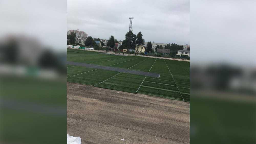 В Брянске стадион «Спартак» отремонтировали на 50 процентов