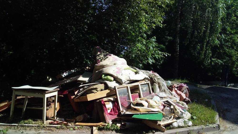 В Брянске заметили свалку старой мебели в центре города