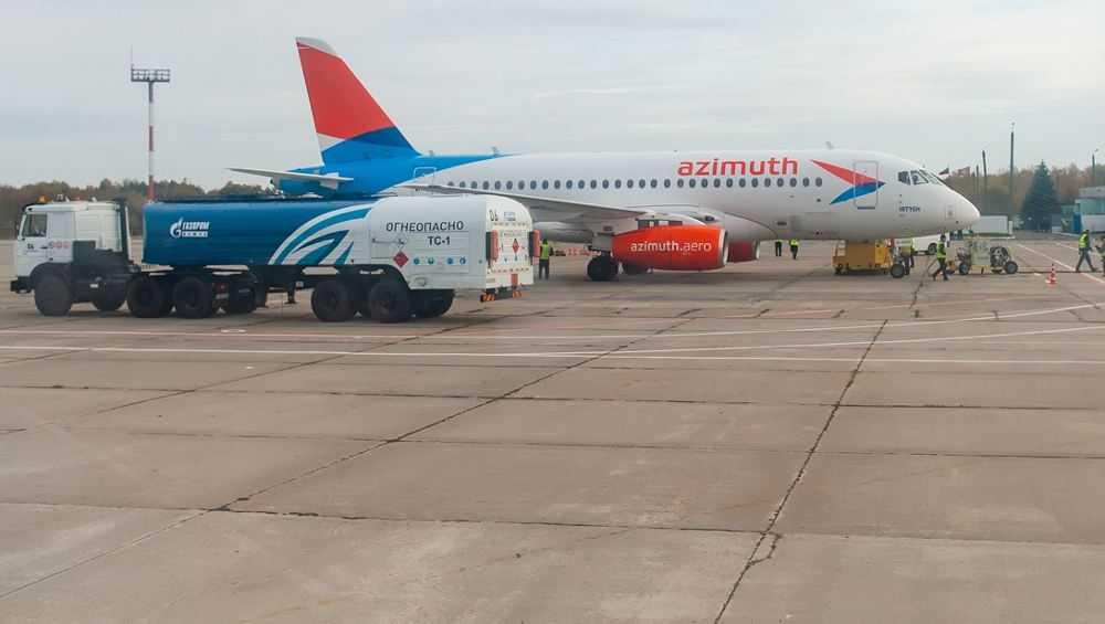 В брянском аэропорту подешевел керосин для самолетов
