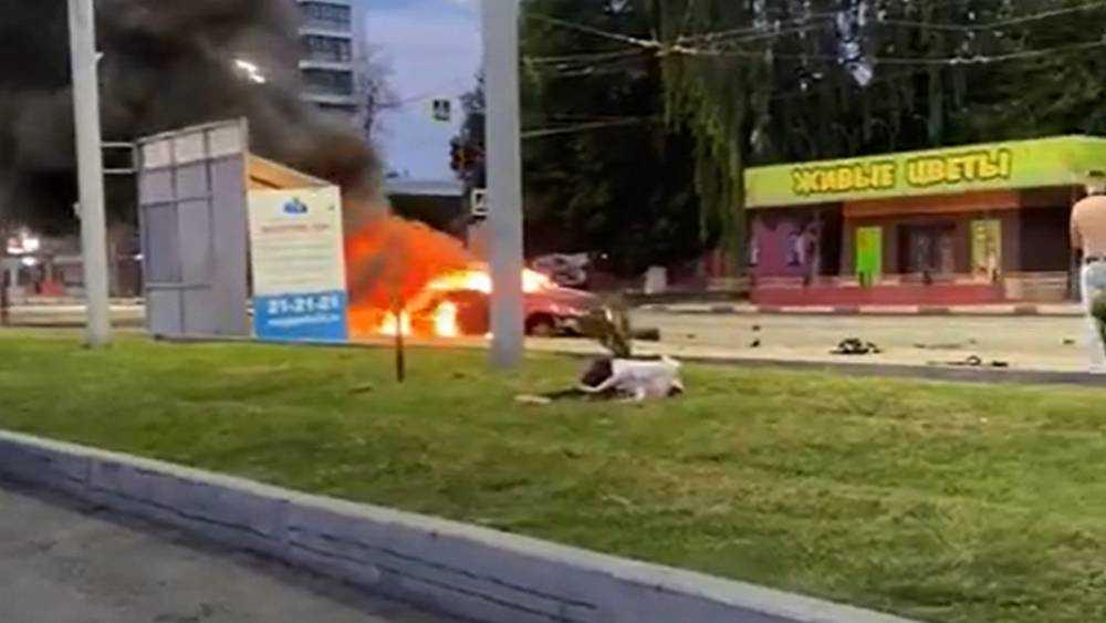 Появилось видео трагического ДТП в Брянске возле Кургана Бессмертия