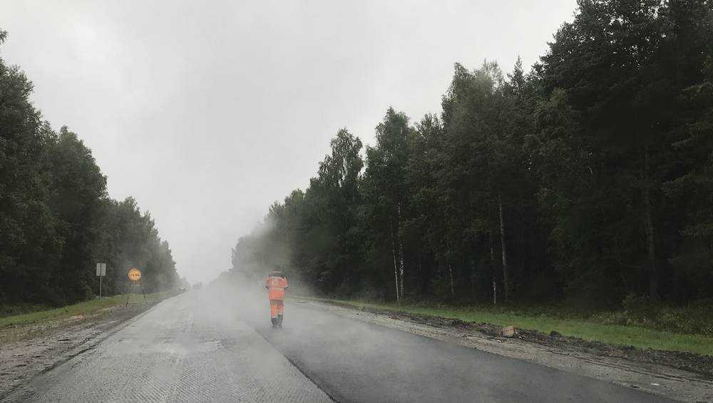 На федеральной трассе в Брянской области поставили эксперимент с паром