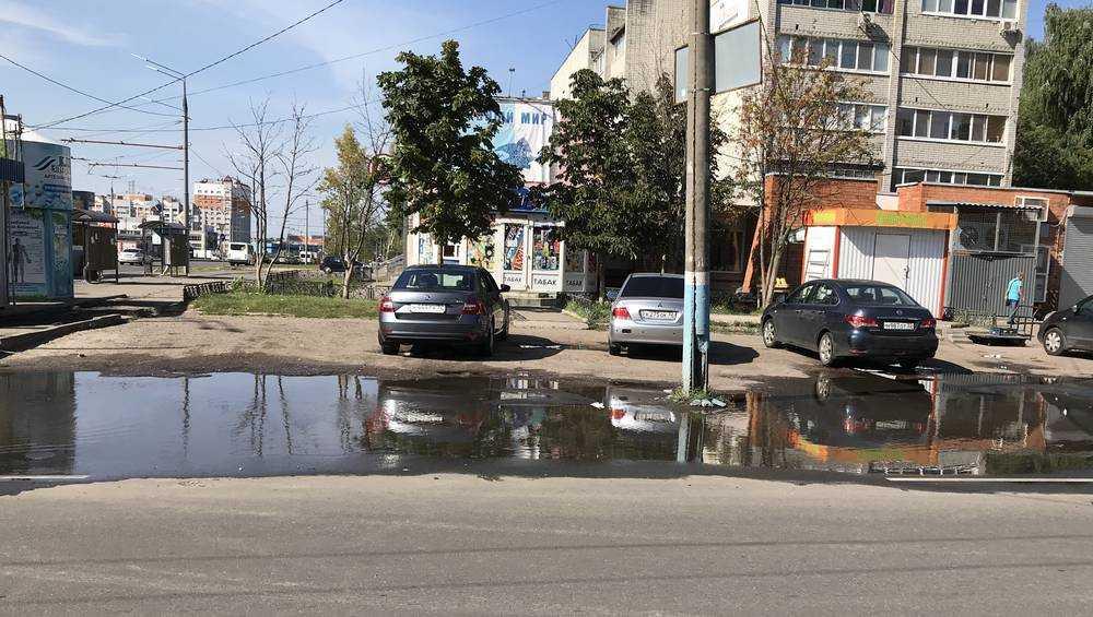 Брянских автомобилистов предупредили, что столб ляжет