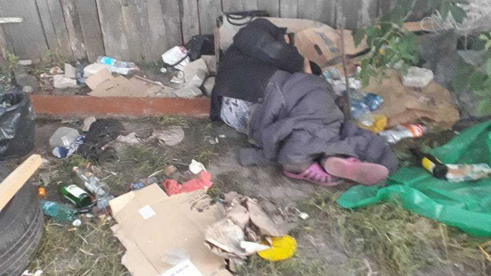 В Брянске появился ужасающий лагерь бомжей