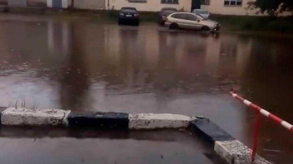 Жительницу Брянска возмутила огромная лужа в центре города