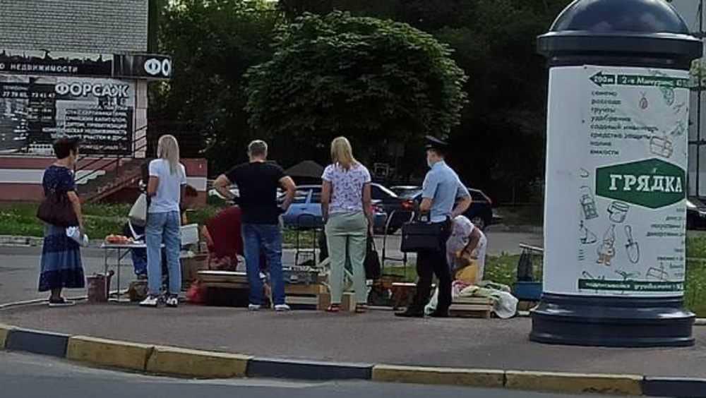 В Брянске устроили облаву на уличных торговок овощами