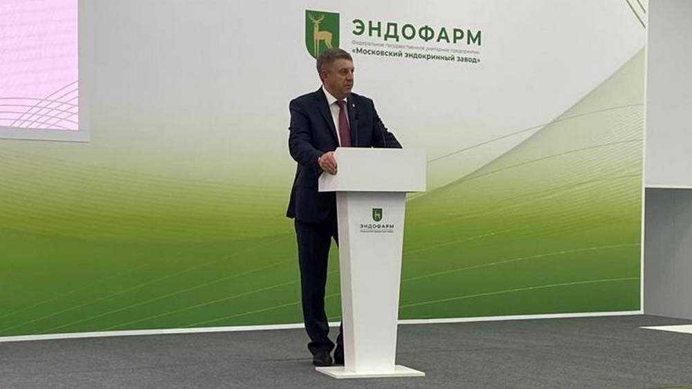 Министр Денис Мантуров и брянский губернатор открыли завод в Почепе