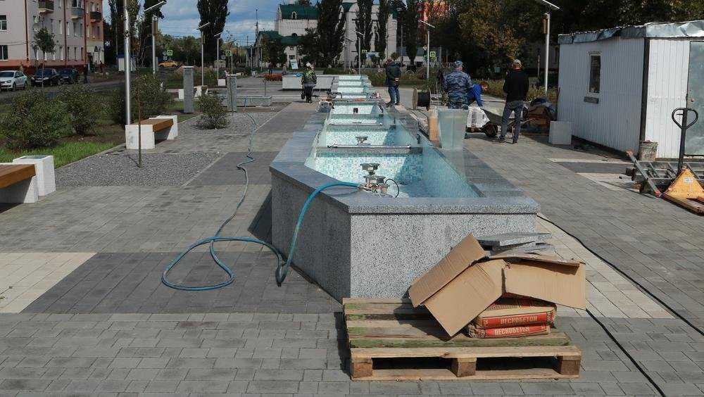 В обновленном брянском сквере «Литий» осталось запустить фонтан