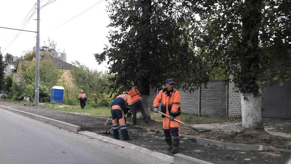 В Брянске на улице Фокина построили тротуары