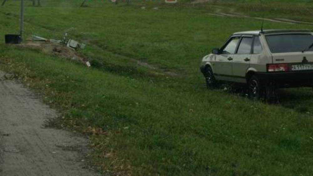 Под Брянском водитель повалил в кювет установленную у дороги камеру