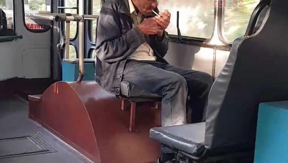 Брянцев удивил закуривший в троллейбусе мужчина