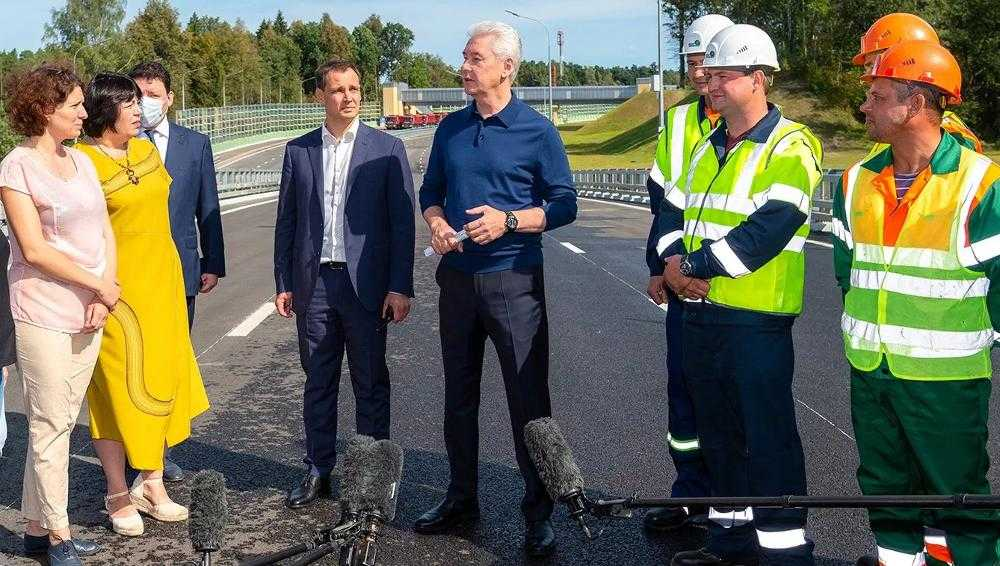 Бывший брянский депутат с мэром Москвы открыли новую дорогу в столице