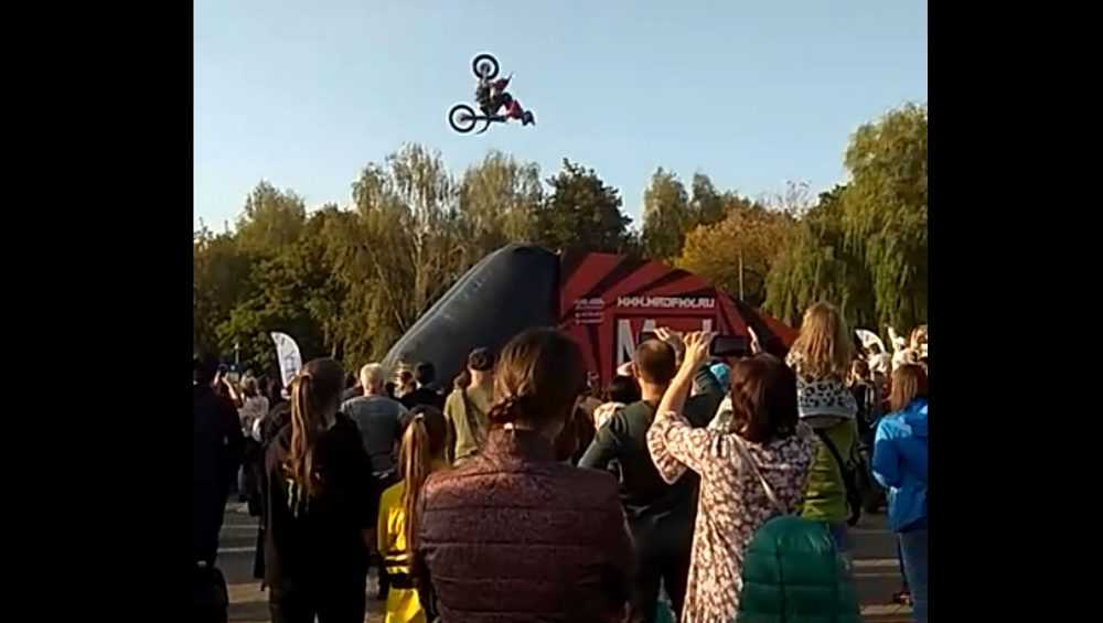 Брянцев поразили летающие мотоциклисты на фестивале «Я могу»