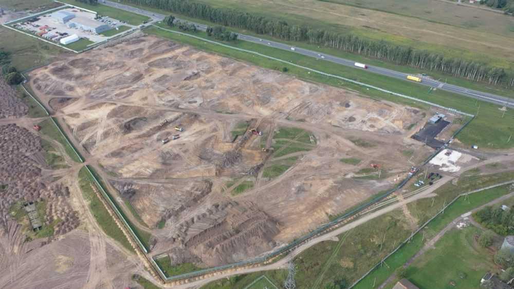 Первый бетон залит в основание будущего распредкомплекса «Пятерочка»