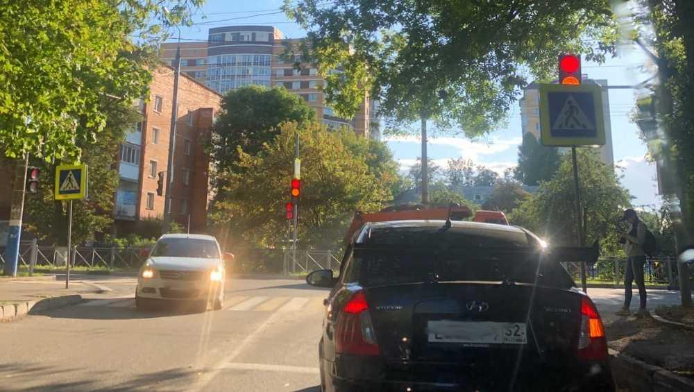 Брянских водителей удивил скрытый знаком светофор
