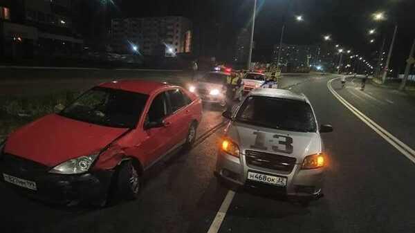 На новом участке улицы Советской в Брянске произошла нелепая авария