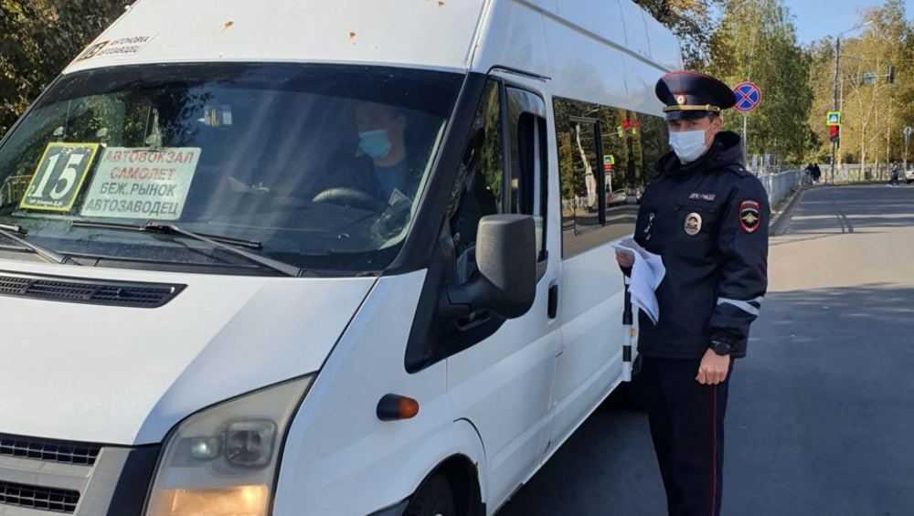 В брянских маршрутках проверили соблюдение масочного режима