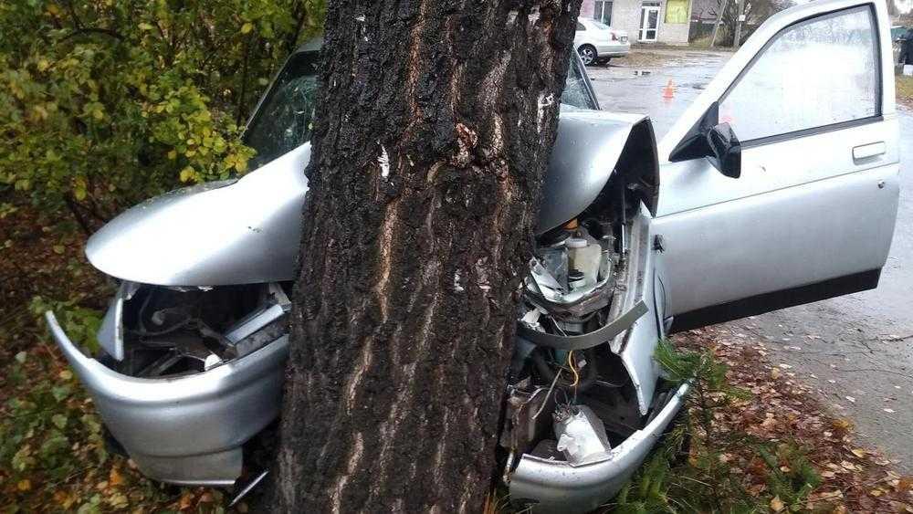 В Карачеве пьяный водитель врезался в дерево – ранены четыре человека