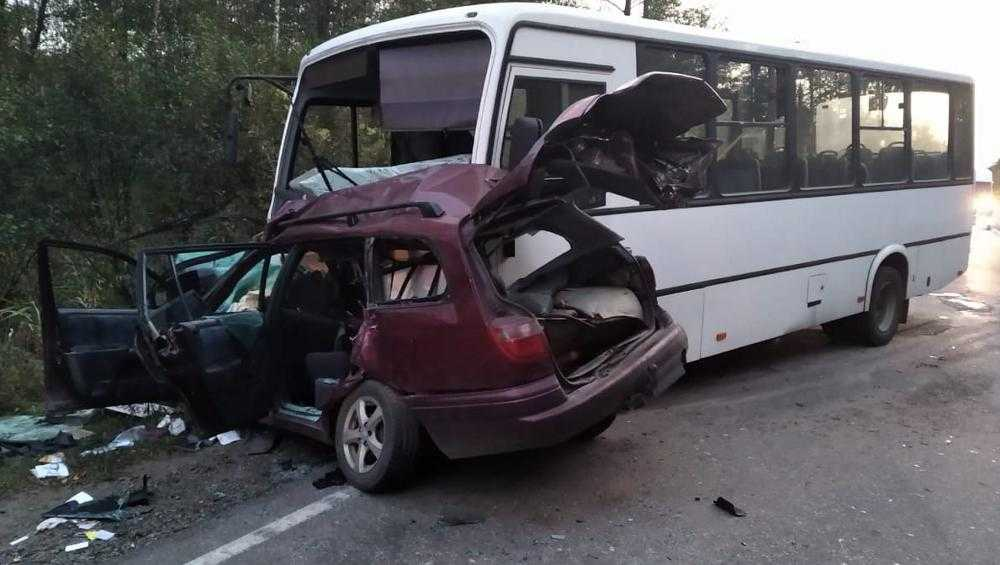 В ДТП с автобусом под Брянском погибла 36-летняя автомобилистка