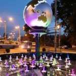 Площадь у вокзала Брянск-I украсили необычный знак и новый фонтан