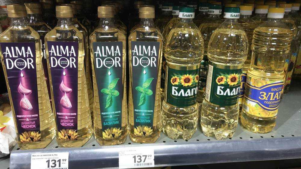 В брянских магазинах резко подорожало подсолнечное масло