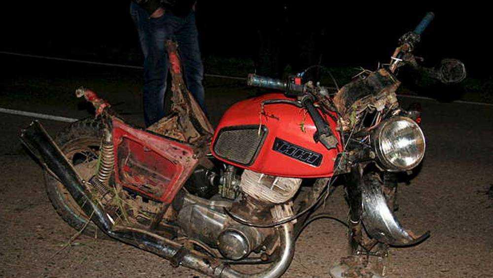 В Сельцо мотоциклист врезался в столб