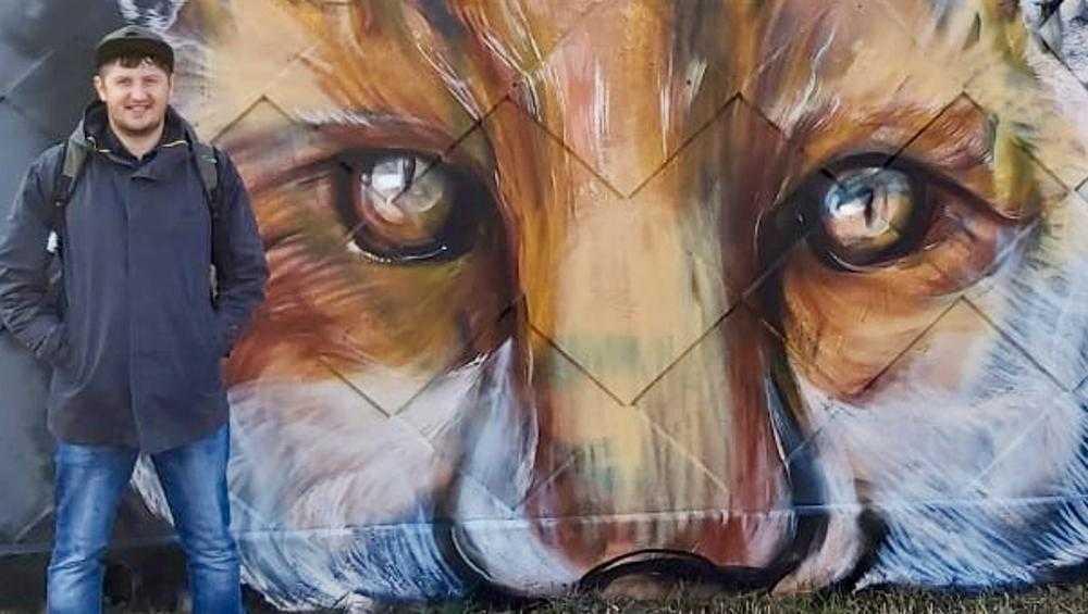В Брянске изображение лисёнка украсило забор вдоль улицы Литейной