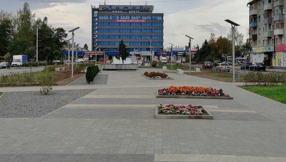 В Брянске обновленный сквер «Литий» приняли в эксплуатацию