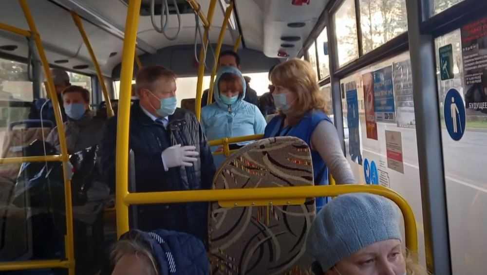 Заместитель брянского губернатора проверил масочный режим в автобусах
