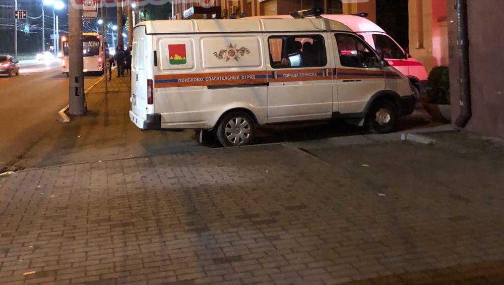 В Брянске на площади Партизан выставили оцепление