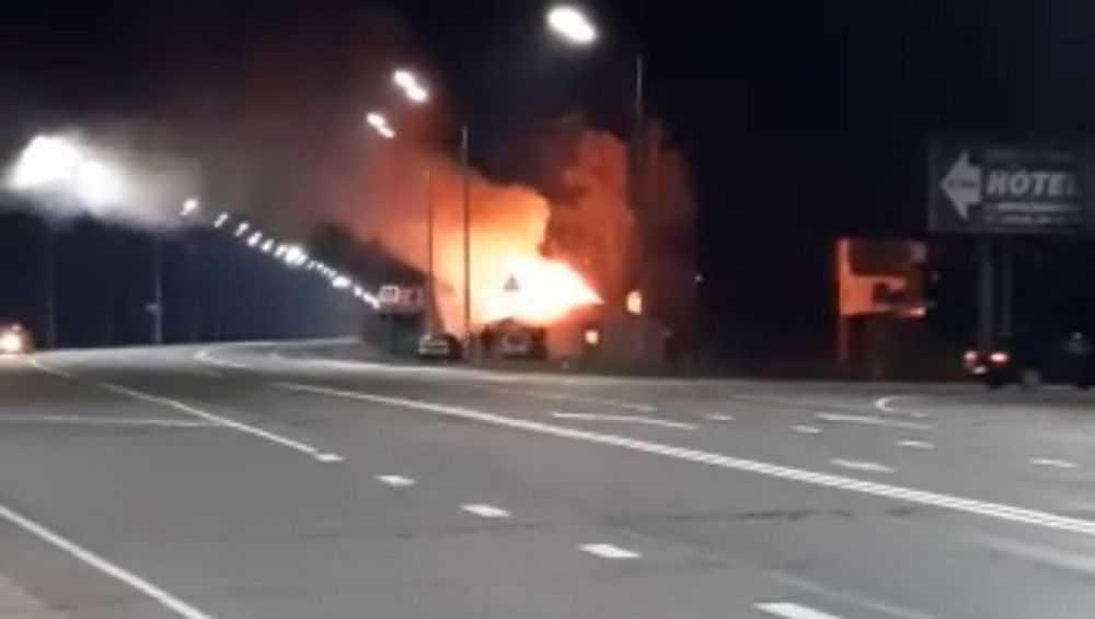 Под Новозыбковом сгорело неработавшее кафе «Русь»