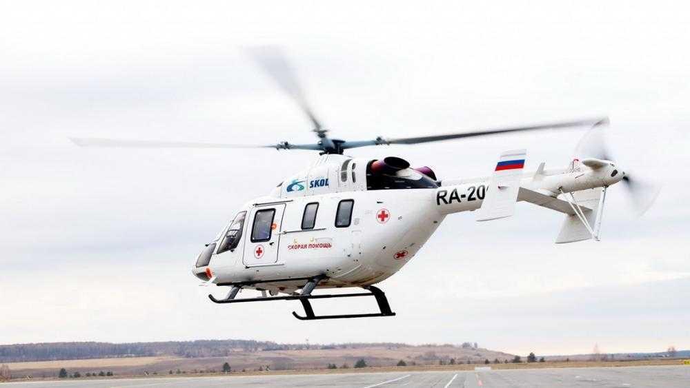 В Брянске приземлился медицинский вертолет
