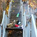 На брянских склонах деревянные лестницы заменят на металлические