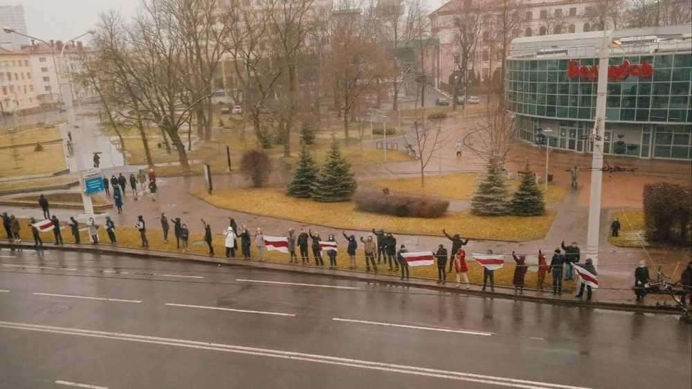 В белорусской столице началась воскресная акция протеста