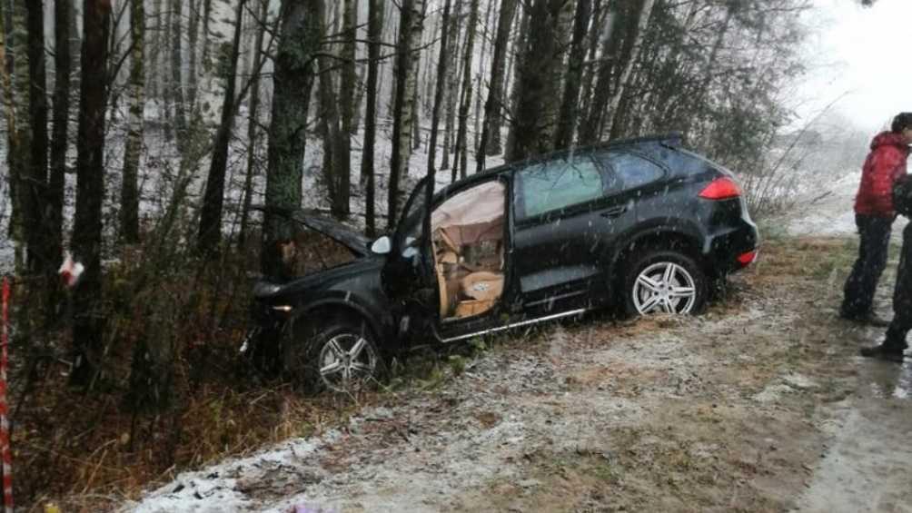 Под Погаром женщина на иномарке врезалась в дерево – ранены 2 человека