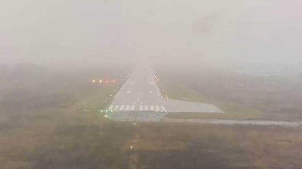 В Брянске самолёт из Санкт-Петербурга совершил посадку в тумане
