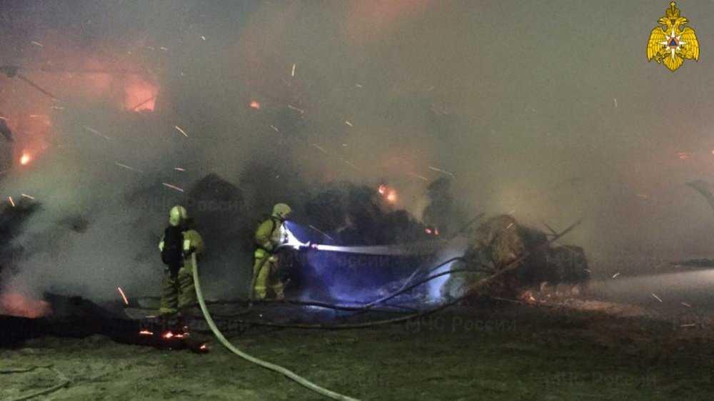 В Бежицком районе Брянска крупный пожар потушили за два часа