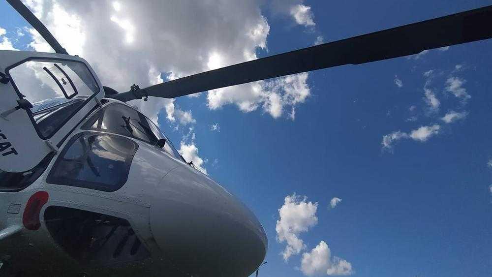 Санитарный вертолет выполнил первый рейс в Брянской области