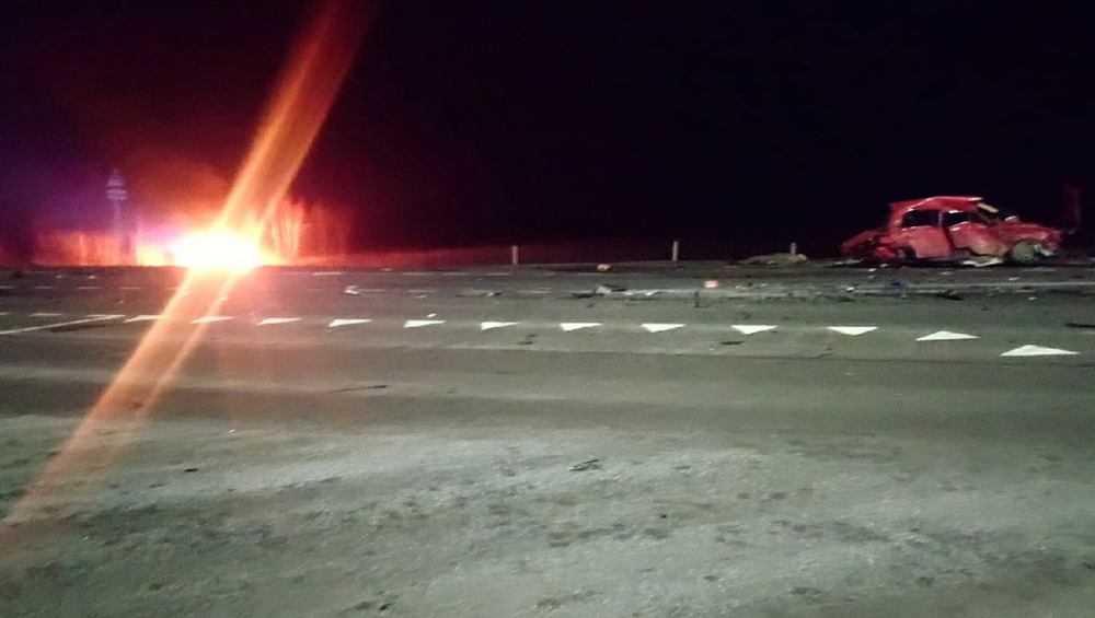 В Клинцах в страшной аварии с пожаром погиб один человек