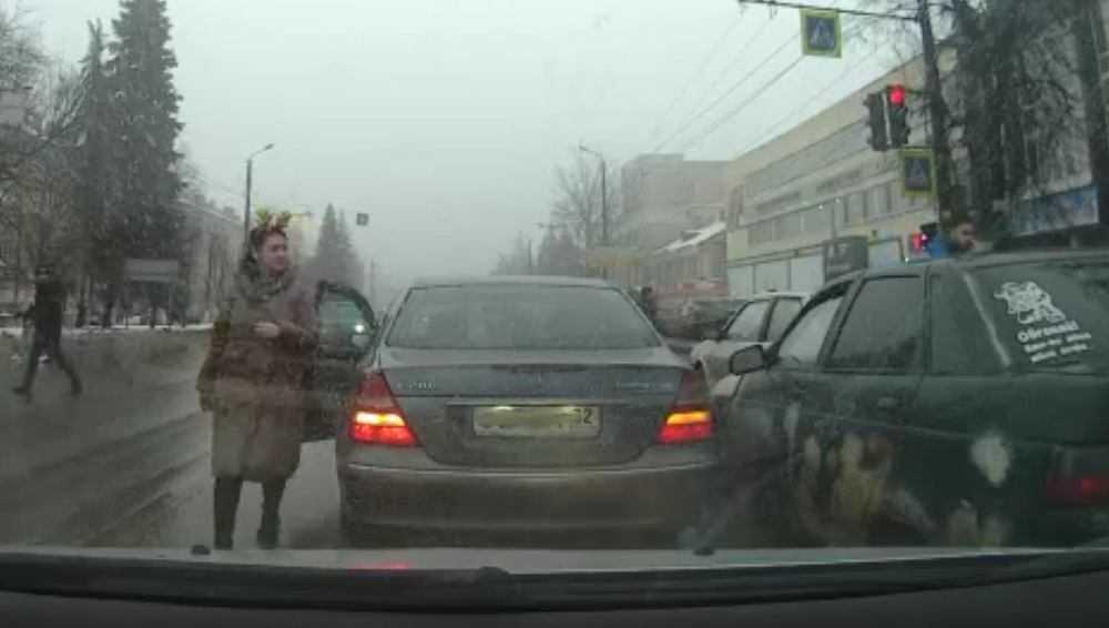 В Брянске водительница с ушками проявила хладнокровие во время ДТП