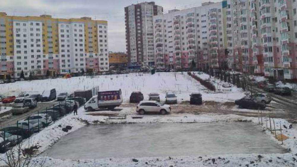 Заливший каток во дворе многоэтажки житель Брянска восхитил горожан