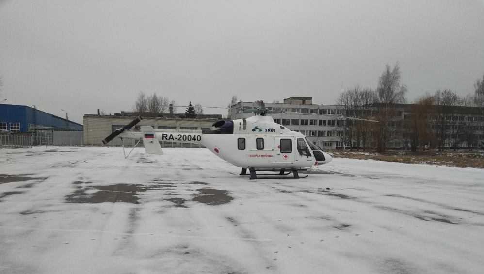 В Брянск на санитарном вертолёте доставили заболевшего жителя Новозыбкова
